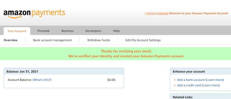 Amazon MT登録情報