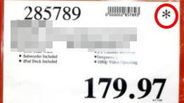 Costco price asterisk