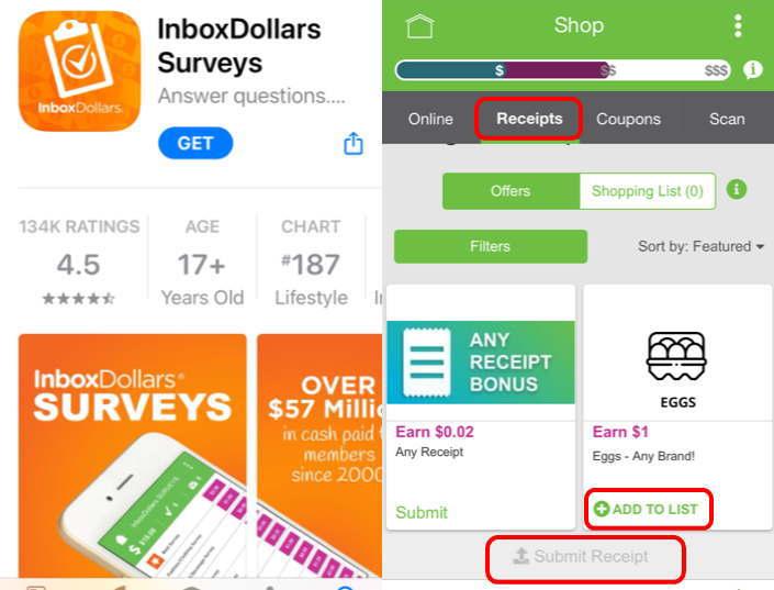 InboxDollarsアプリ