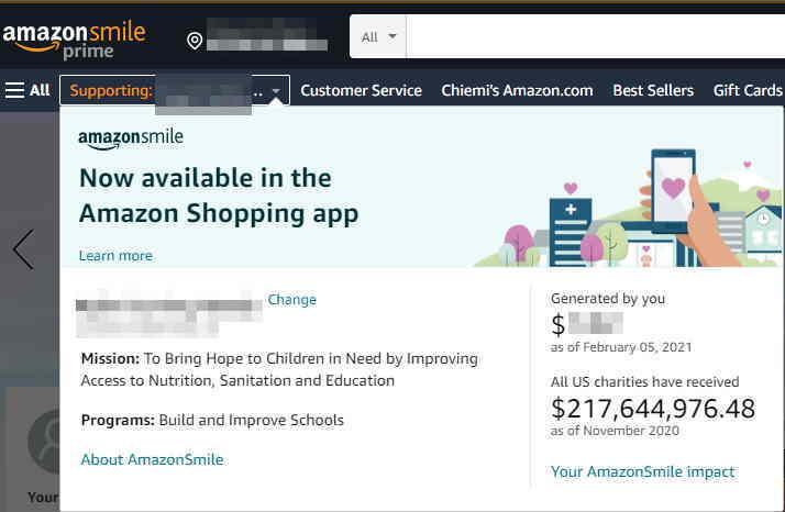 Amazonsmileアマゾンスマイル