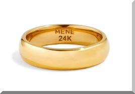 Meneの純金のリング