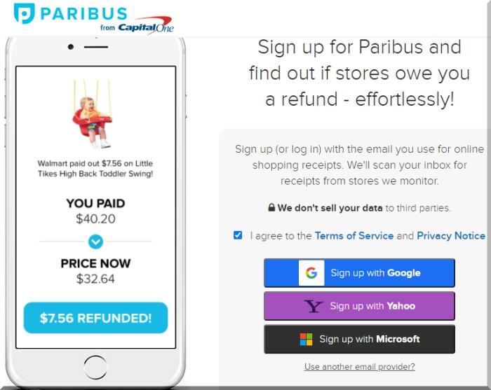 Paribusパリバスで値下げがあった場合の差額を返金してもらうための登録方法を紹介します。