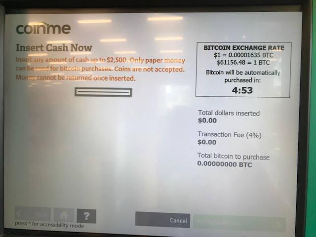 Coinstarでビットコインを購入