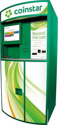 Coinstarの機械でコインを数える