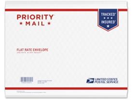 USPSフラットレートの封筒