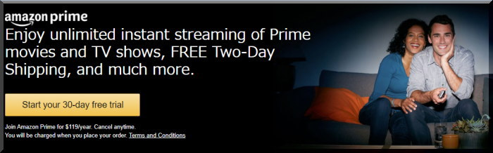 Amazon Primeのメンバーになる