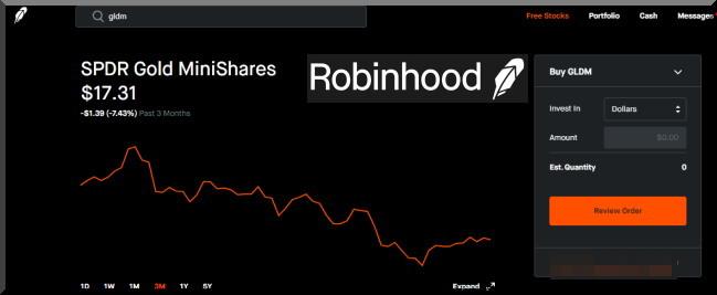 Robinhoodで金のETFを購入