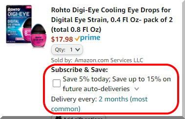 アマゾンの製品、サブスクライブで安く