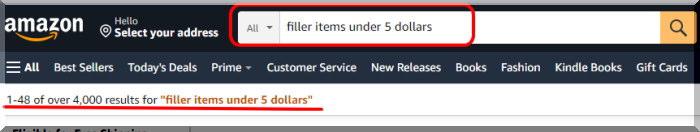 Filler item アマゾン