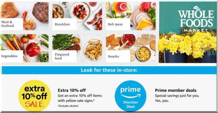 Wholefoodsホールフーズでアマゾンプライム価格で購入する
