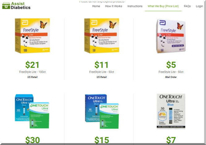 Assist Diabeticsの買取商品と値段