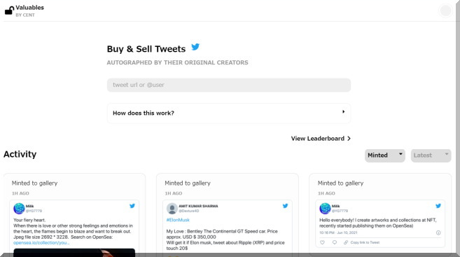 あなたのツイートを販売