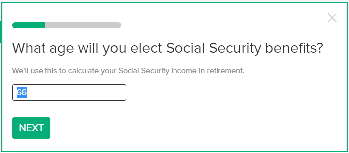 無料のかんたんベスト・リタイアメント計算機の使い方 ソーシャルセキュリティのベネフィットを何歳から受け取り始めるつもりか入力