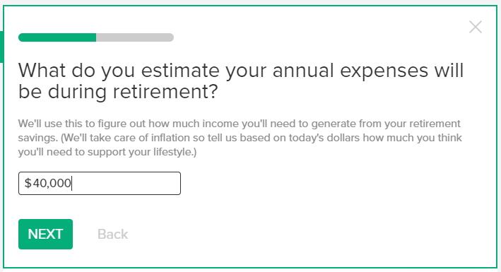 無料のかんたんベスト・リタイアメント計算機の使い方 リタイア後に年間いくらぐらい使うと思うかの予測金額