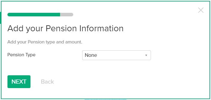 無料のかんたんベスト・リタイアメント計算機の使い方 年金を別途貯めている人は、その情報と金額を入れます